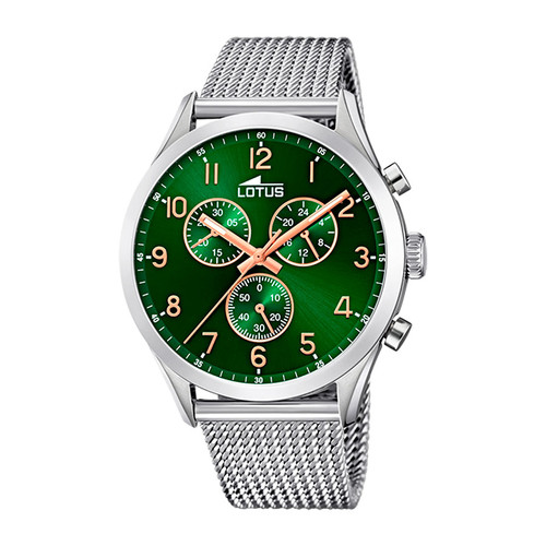 Reloj Lotus Cronógrafo Acero Esfera Verde