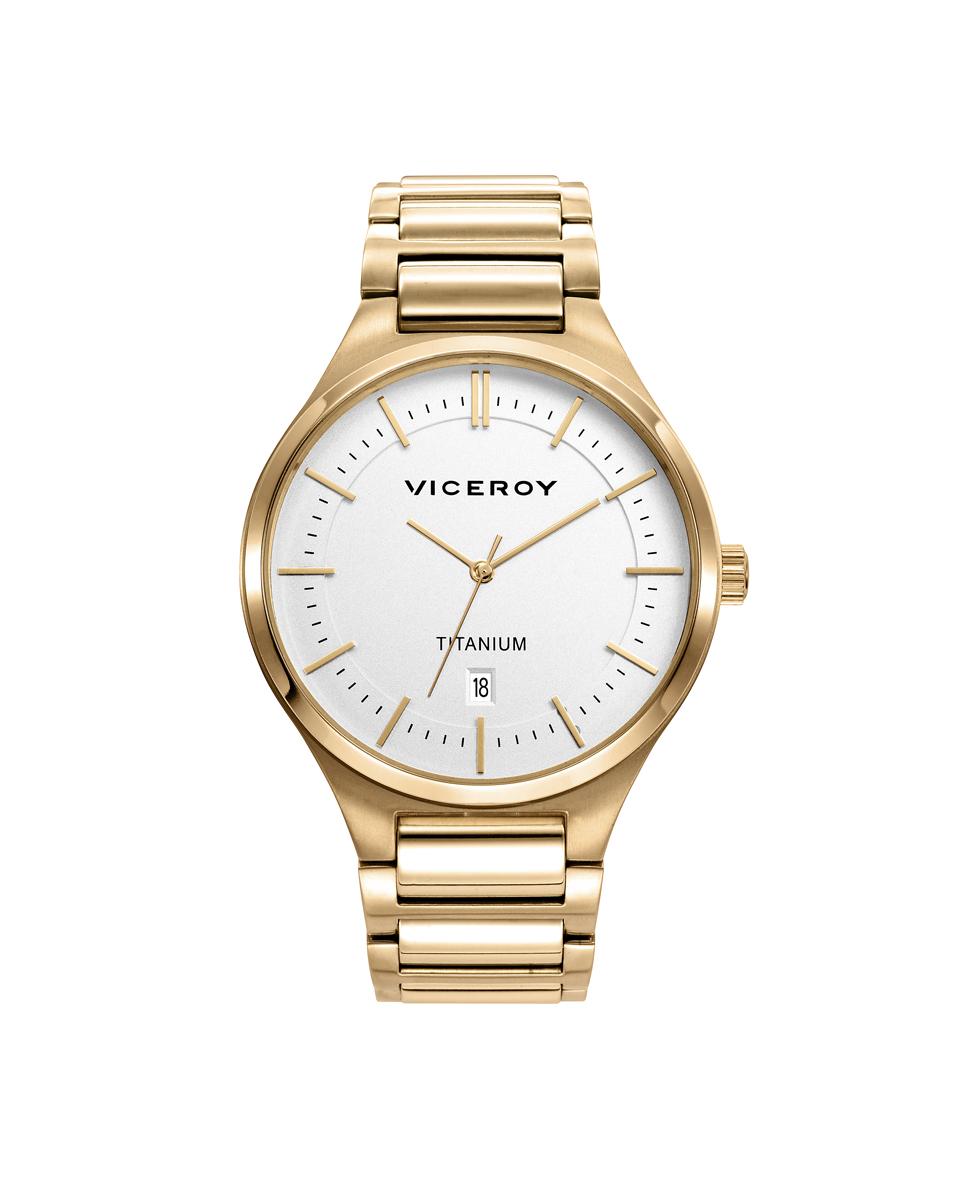 Reloj Titanio Ip Gold Brazalete Sr Va