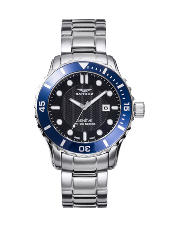 Reloj Sandoz Diver bisel azul