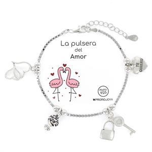 Pulsera plata Eres lo Más Amor