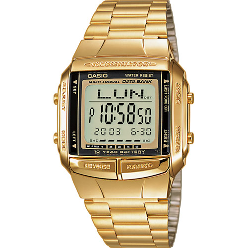 d3da6f0b4abd Reloj Casio Collection DB-360GN-9AEF digital dorado unisex-Joyeria Vila