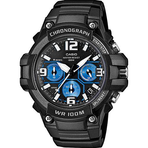 0a46a99e9618 Reloj Casio Collection MCW-100H-1A2VEF negro azul-Joyeria Vila