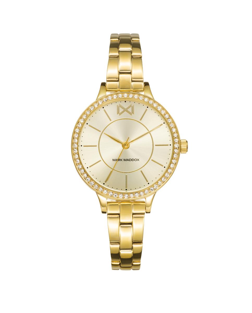 Reloj Acero Ip Dorado Brazalete Sra Mm