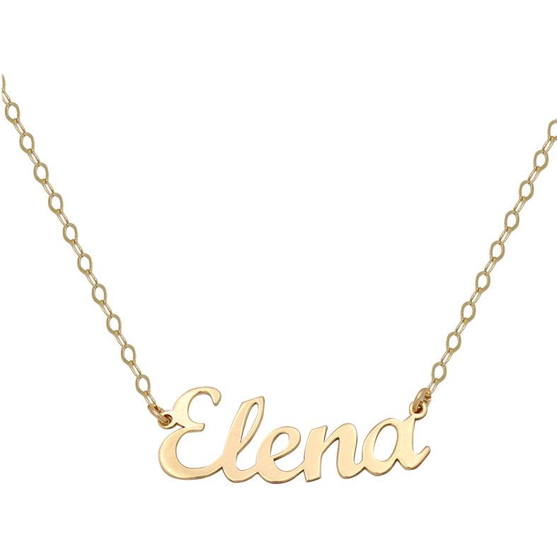 Colgante nombre oro 5 letras