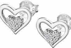 Pendientes Lotus Silver Corazón Circonitas
