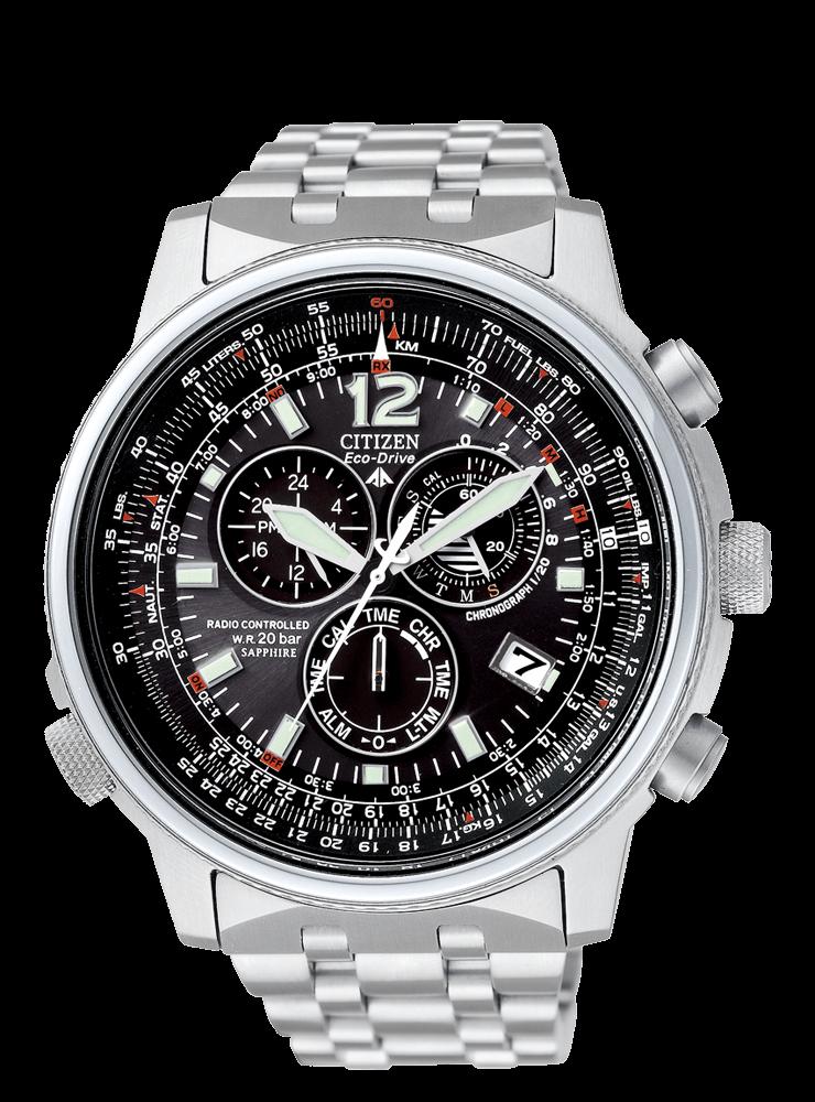 78eac3cf5a88 Reloj Citizen Eco-Drive Crono Pilot Acero Radiocontrolado AS4020-52E ...