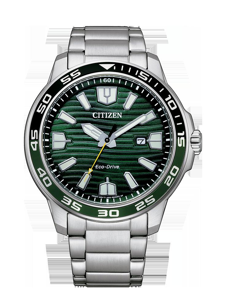 Reloj Citizen Eco-Drive Acero Esfera Verde