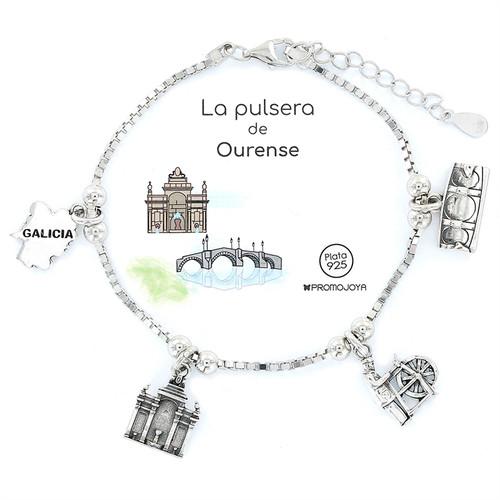 Pulsera Plata Eres lo Más Ourense