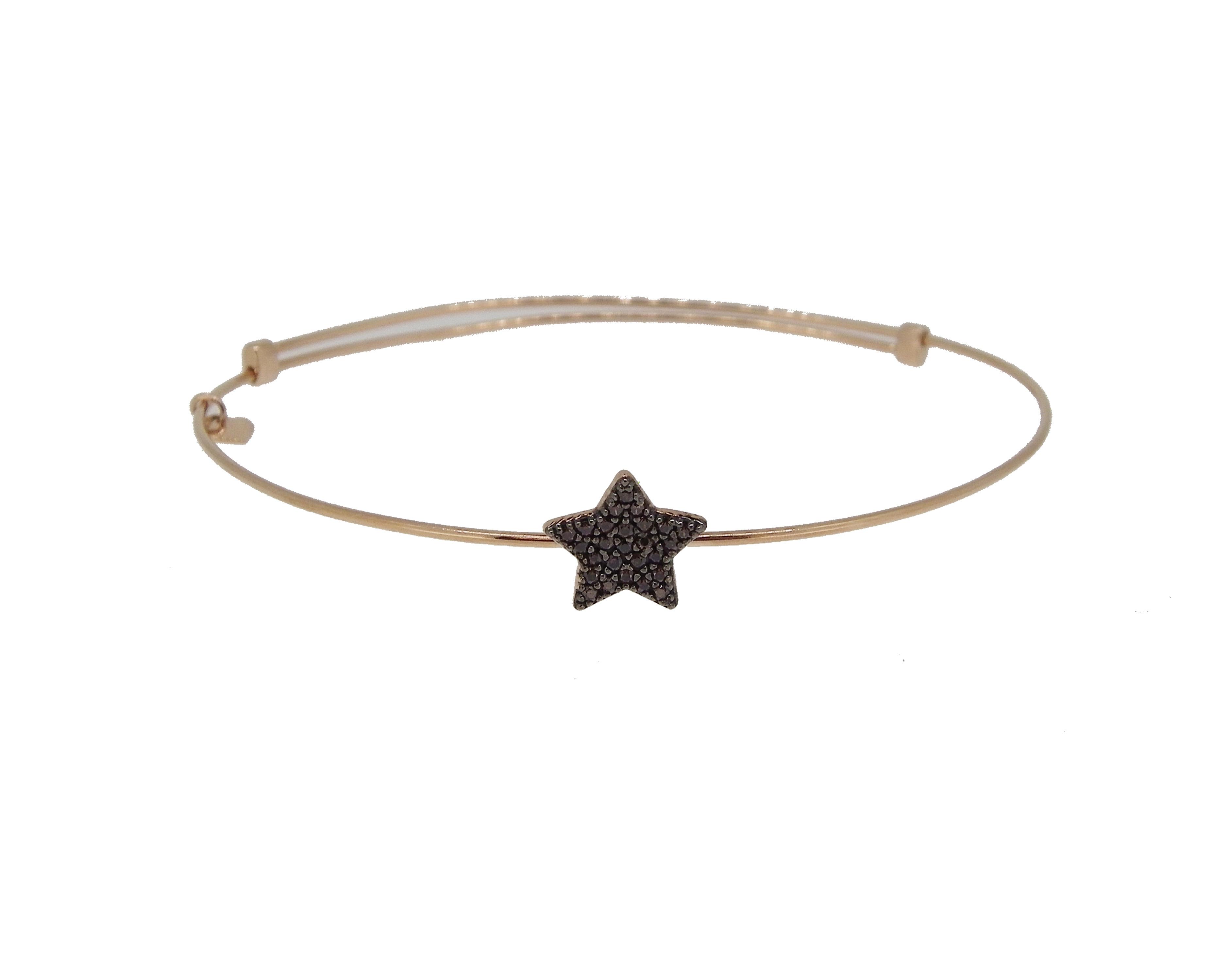 nuevo producto 782d4 b817a Pulsera aro oro rosa estrella