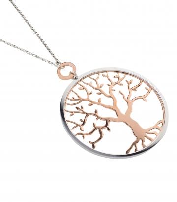 Collar plata de ley con colgante árbol de la vida