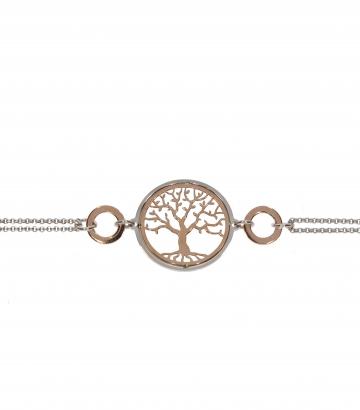 Pulsera plata de ley árbol de la vida