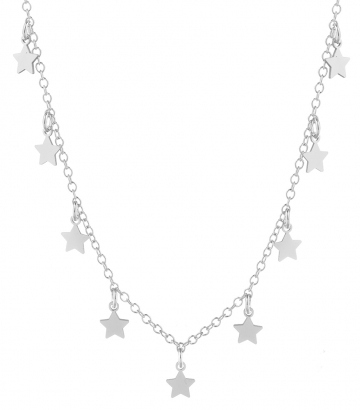 Gargantilla plata estrellas