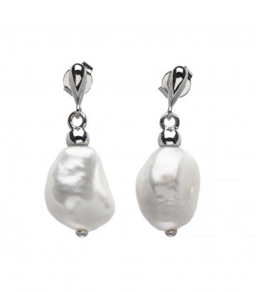 Pendientes Salvatore Plata perla barroca 121A0074