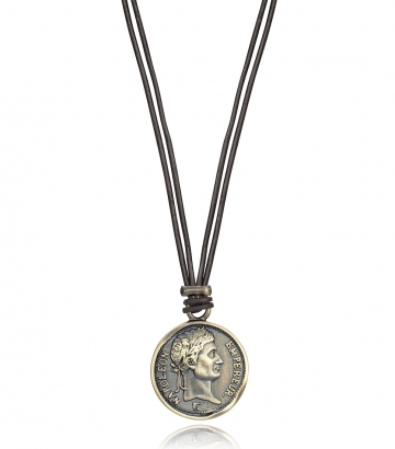Collar Colgante Acero Moneda Antigua Sr Fn