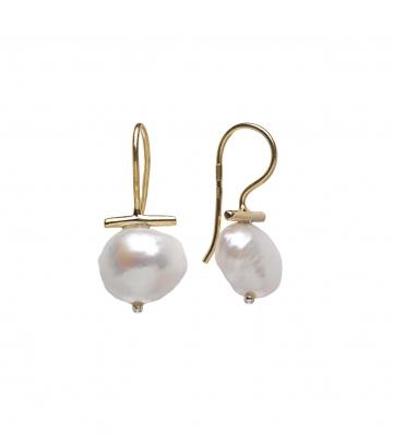 Pendientes Salvatore plata chapada oro perla