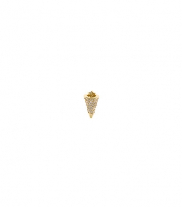 Charm plata chapado oro cono circonitas  Miscellany Collection