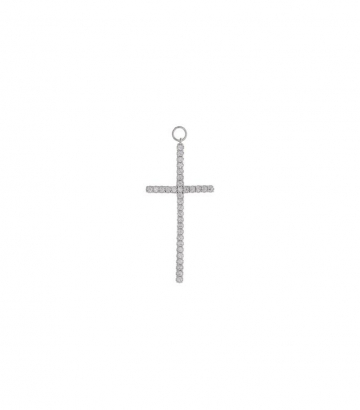 Charm plata rodio cruz circonitas  Miscellany Collection