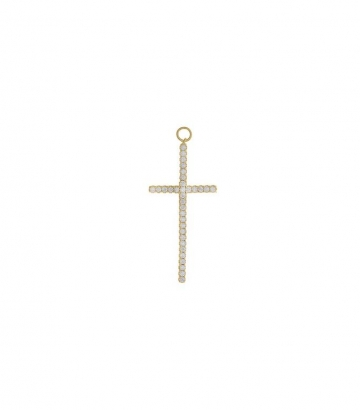 Charm plata chapado oro cruz circonitas  Miscellany Collection