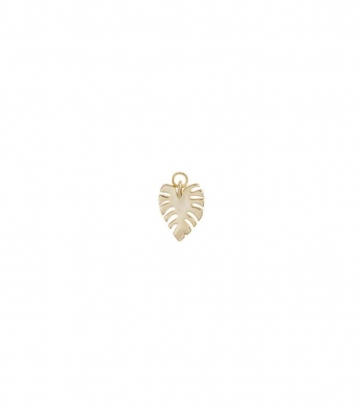 Charm plata chapado oro hoja de palmera Miscellany Collection