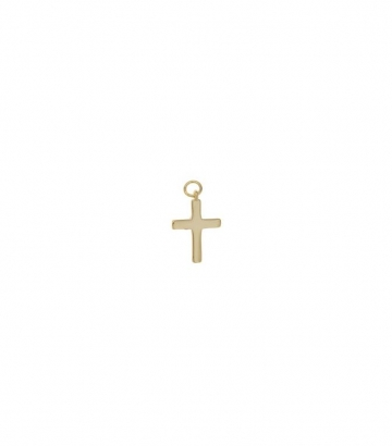 Charm plata chapado oro cruz lisa Miscellany Collection