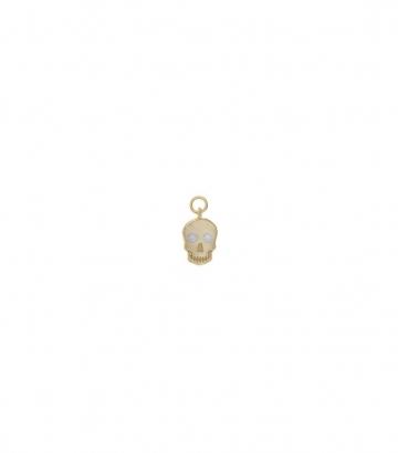 Charm plata chapado oro calavera circonitas Miscellany Collection