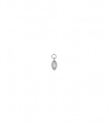 Charm plata rodio marquesa circonitas Miscellany Collection