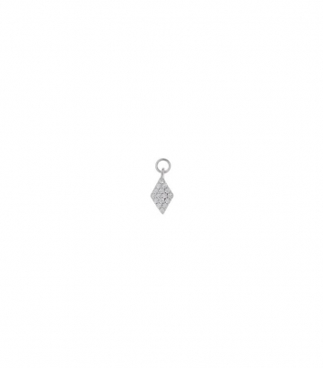 Charm plata rodio rombo circonitas Miscellany Collection