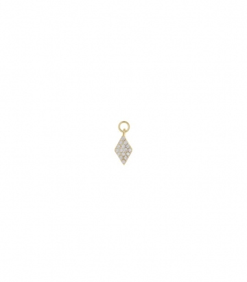Charm plata dorada rombo circonitas Miscellany Collection