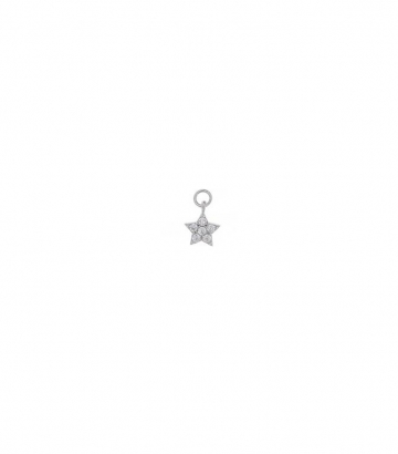 Charm plata rodio estrella circonitas Miscellany Collection