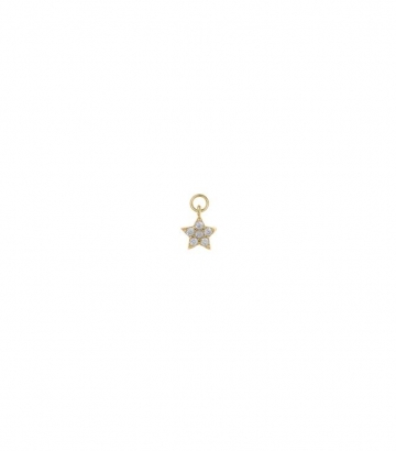 Charm plata dorada estrella circonitas Miscellany Collection