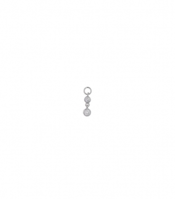 Charm plata rodio dos chatones circonitas Miscellany Collection
