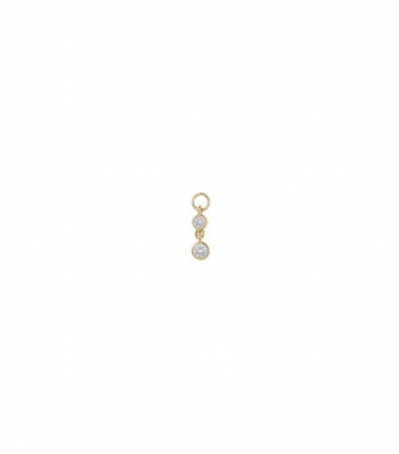 Charm plata dorada dos chatones circonitas Miscellany Collection