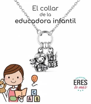 Gargantilla Promojoya Plata Educadora Infantil