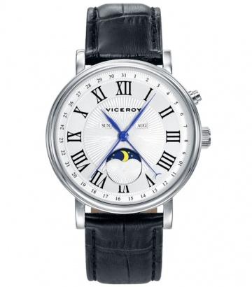 Reloj Viceroy acero multifunción correa negra