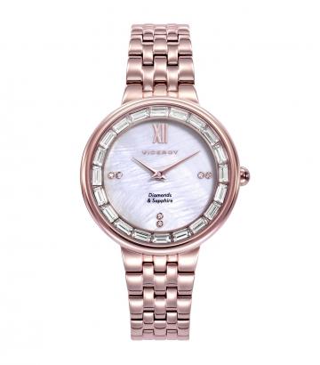 Reloj Viceroy Mujer Chapado Oro Rosa Diamantes
