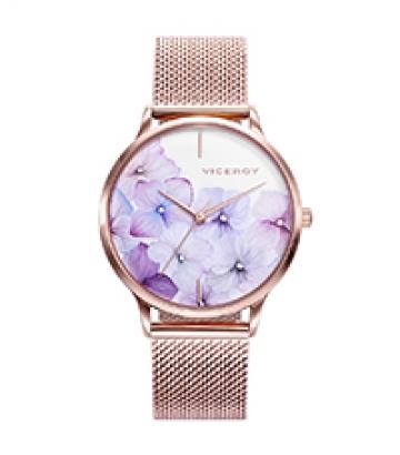 Reloj Viceroy Kiss Acero IP Oro Rosa Esfera Flores 461096-97