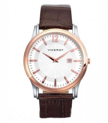Reloj Viceroy caballero bicolor correa piel