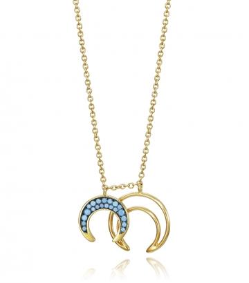 Collar Plata De Ley Doble Luna Sra Jewels