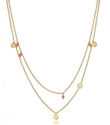 Collar Plata De Ley Doble Dorado Sra Jewels