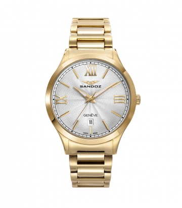 Reloj Acero Brazalete Ip Gold Sra Elle Sa