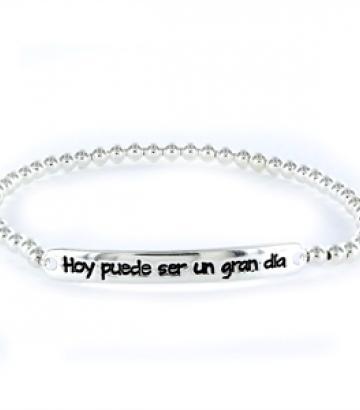 Pulsera Happy plata Hoy puede ser un gran dia