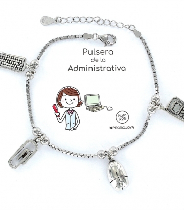 Pulsera Plata Eres lo Más Administrativa