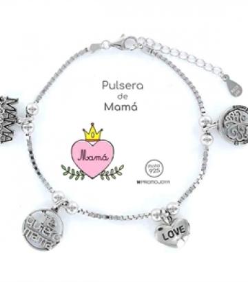 Pulsera plata Eres lo Más Mamá