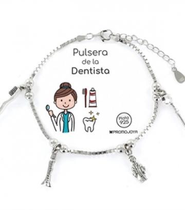 Pulsera Plata Eres lo Más Dentista