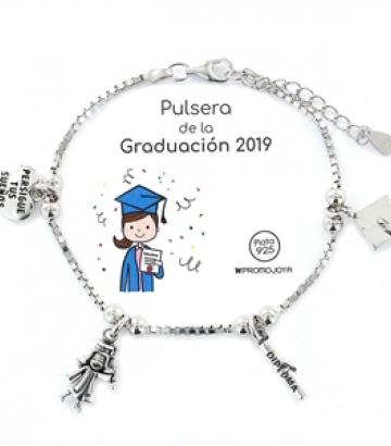 Pulsera Plata Graduación