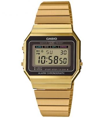 Reloj Casio Vintage Unisex Dorado A700WEG-9AEF