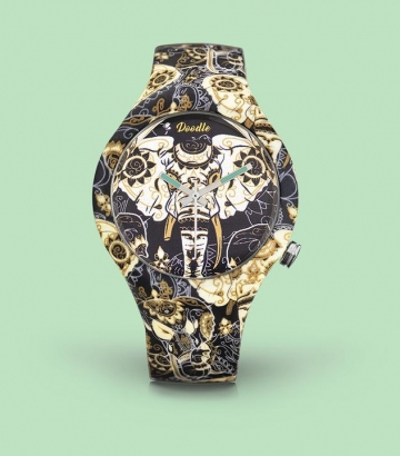 Reloj Doodle Asian Elephant