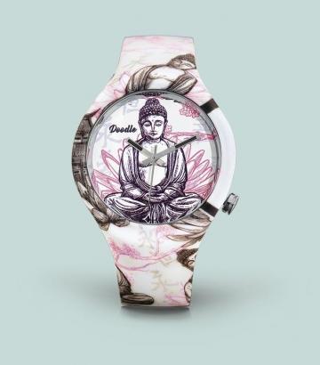 Reloj Doodle Buddha White