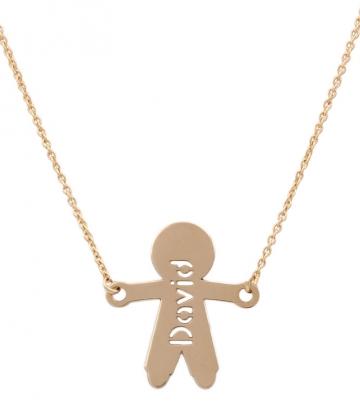 Colgante oro niño con cadena