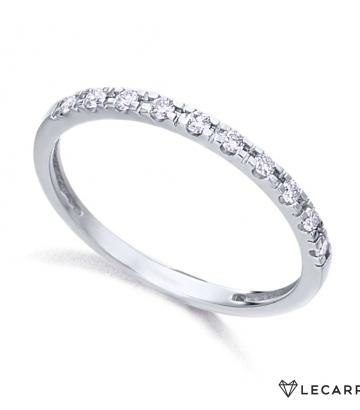 Sortija Le Carré Oro Blanco Diamantes